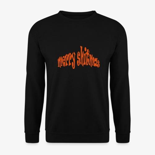 Foute kerst T-shirt Merry Shitmas - Mannen sweater