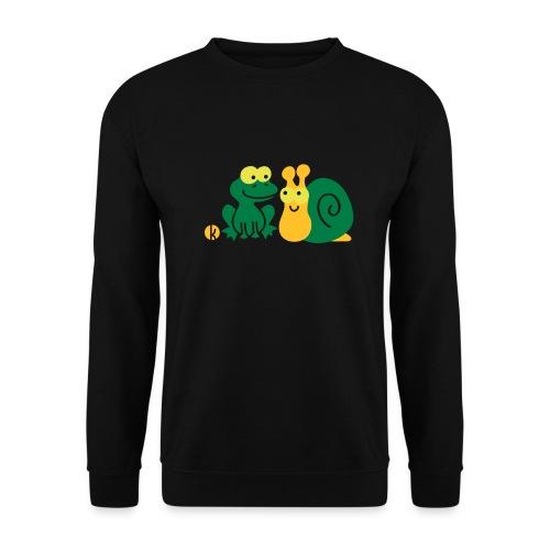 Frosch und Schnecke (c2) Freundschaft - Unisex Pullover