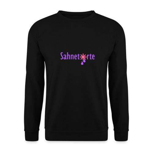 Sahnetorte T-Shirt - hellblaue Schrift - Männer Pullover