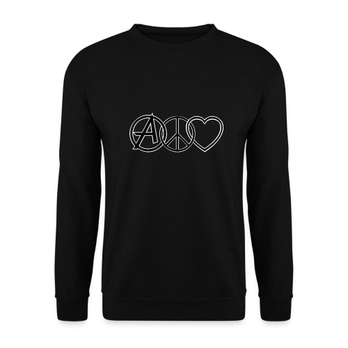 ANARCHY PEACE & LOVE - Men's Sweatshirt