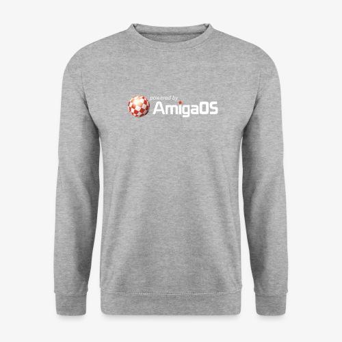 PoweredByAmigaOS white - Unisex Sweatshirt