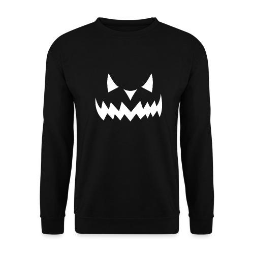 Pumpkin Face Halloween white - Unisex Pullover