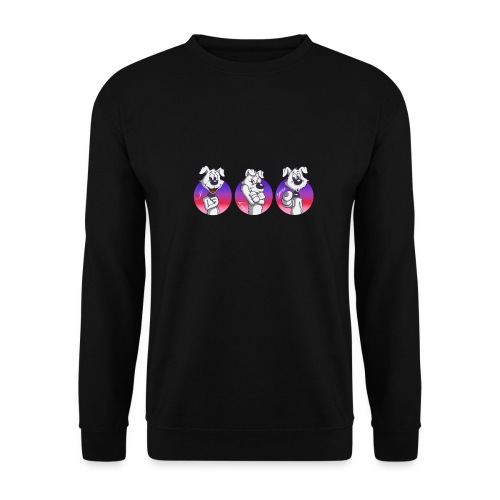 "Comic Hund in Gebärdensprache ""I love you"" - Unisex Pullover"