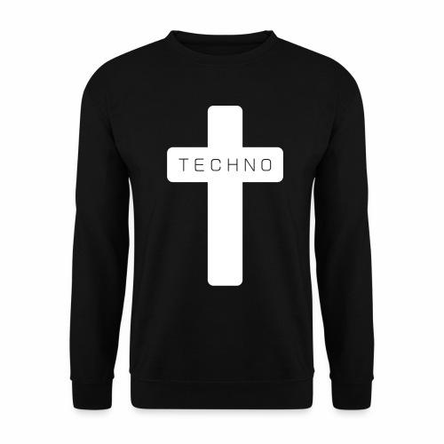 Techno Kreuz abgerundet dark minimal rave - Unisex Pullover