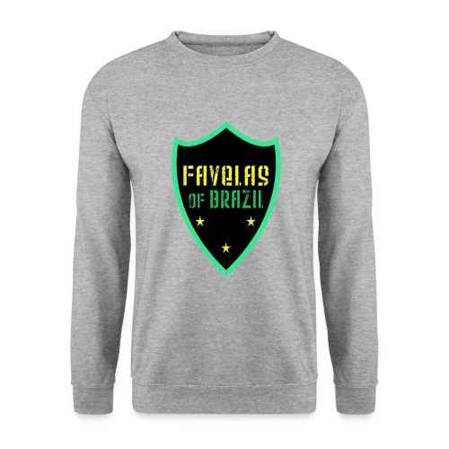 FAVELAS OF BRAZIL NOIR VERT DESIGN - Sweat-shirt Unisex