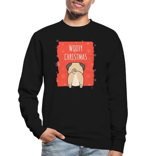 Grappige Kerstmis hond Woofy Christmas origineel - Unisex sweater