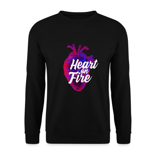 Heart on fire - Sweat-shirt Homme