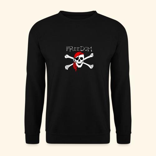 Freiheit Pirat Totenkopf - Männer Pullover