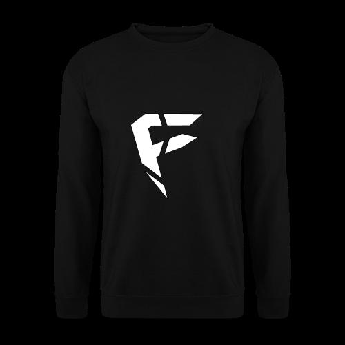 F Logo in Weiß - Männer Pullover