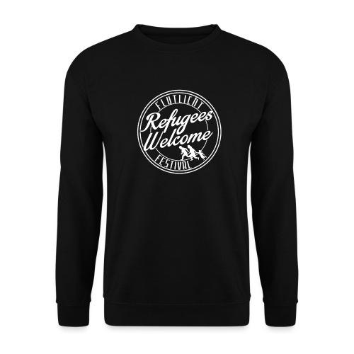 logo_refugees_weiß - Unisex Pullover