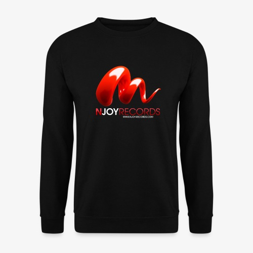 Logo Njoy Records Blanc - Sweat-shirt Homme