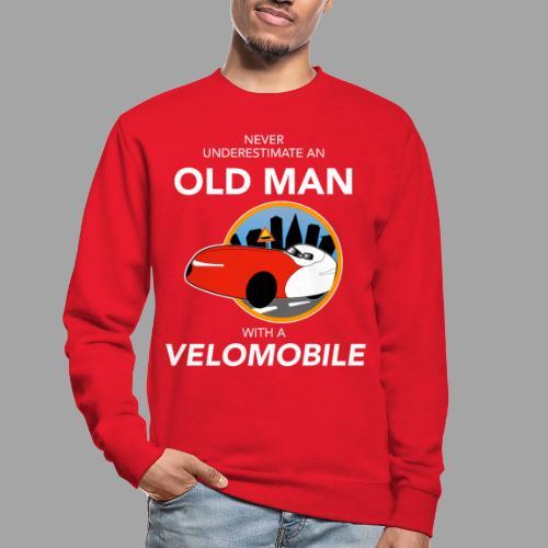 Never underestimate an old man with a velomobile - Unisex svetaripaita