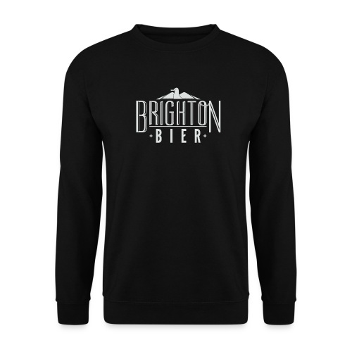 brighton bier logo white - Men's Sweatshirt