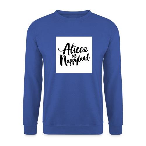 Alice in Nappyland Typography Black 1080 1 - Men's Sweatshirt