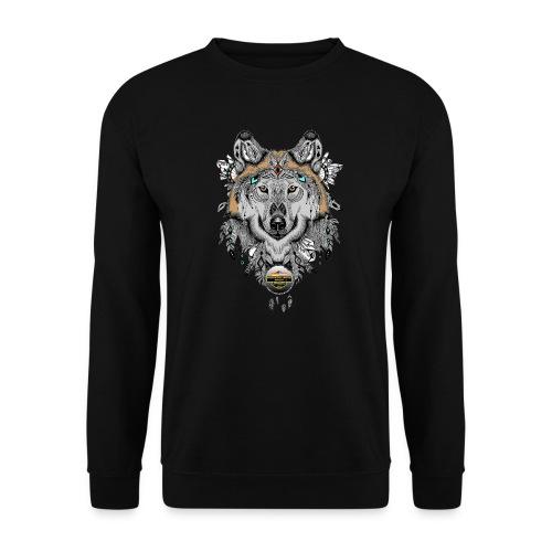 Wolf für Männer, Schrift Gold - Unisex Pullover
