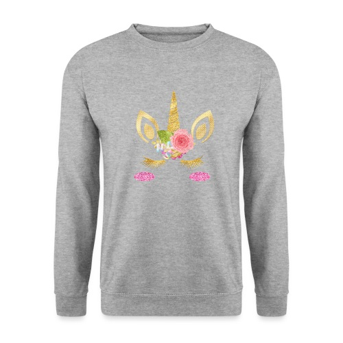 unicorn face - Männer Pullover