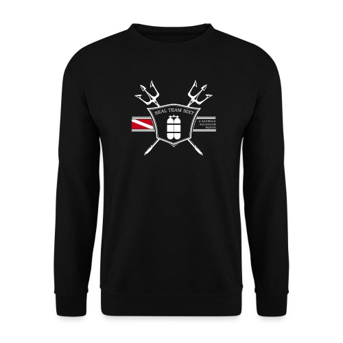 sts logo weiss rot png - Männer Pullover