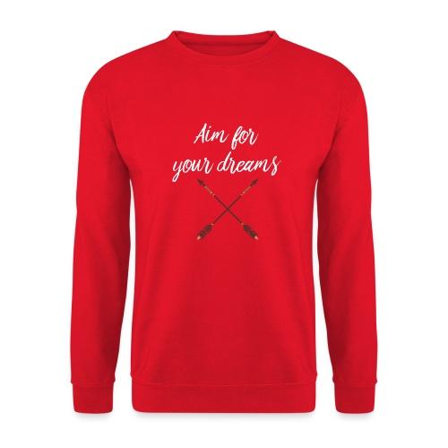 Aim for your Dreams white - Unisex svetaripaita