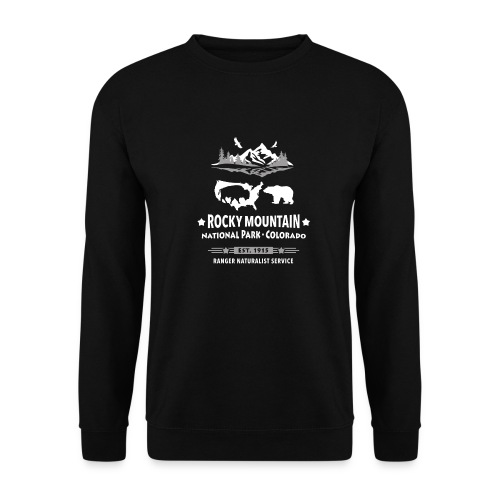 Rocky Mountain Nationalpark Berg Bison Grizzly Bär - Men's Sweatshirt