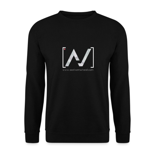 logoalpha blanc - Sweat-shirt Unisex