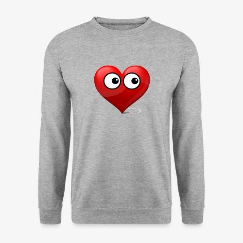 cœur avec yeux - Sweat-shirt Unisex
