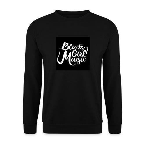 Black Girl Magic 1 White Text - Men's Sweatshirt