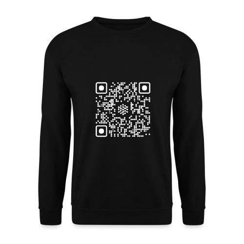 QR Safenetforum White - Men's Sweatshirt