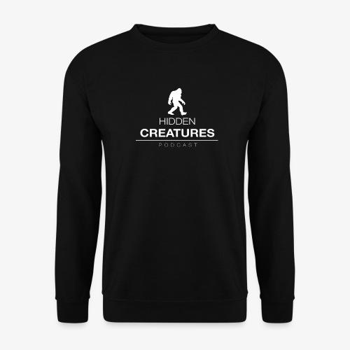 Hidden Creatures Logo White - Men's Sweatshirt