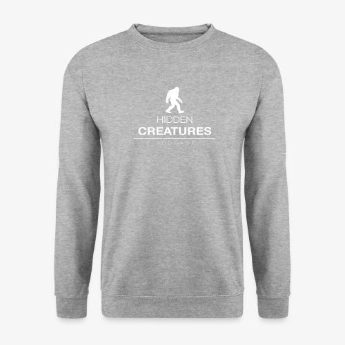 Hidden Creatures Logo White - Unisex Sweatshirt