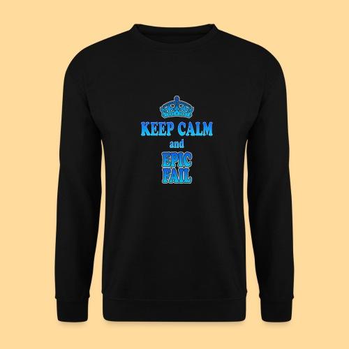 Keep Calm and... epic fail - Felpa da uomo