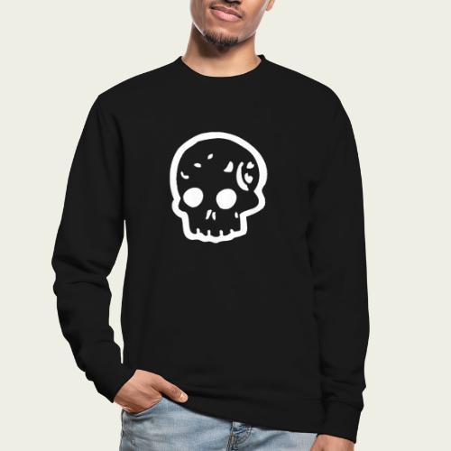Skull logo whi - Sudadera unisex
