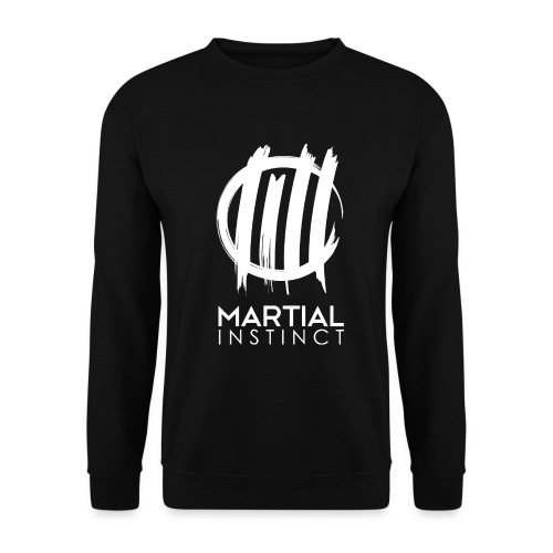 MARTIAL INSTINCT - White Logo (vorne) - Männer Pullover