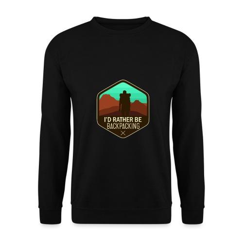 I'd Rather Be Backpacking - Männer Pullover