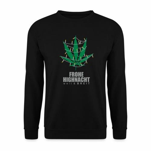 Frohe Highnacht Weihnachten Xmas Fun Hanf Cannabis - Männer Pullover