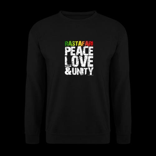 RASTAFARI - PEACE LOVE & UNITY - Männer Pullover
