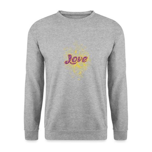 LOVE VIOLA CON DECORI - Felpa unisex