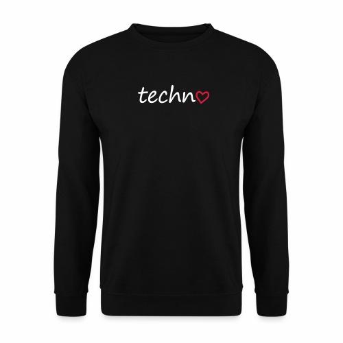 Techno Liebe PLUR Herz Raving Floorliebe Club - Unisex Pullover