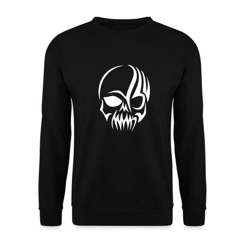 Tribal Skull white mit Logo - Unisex Pullover