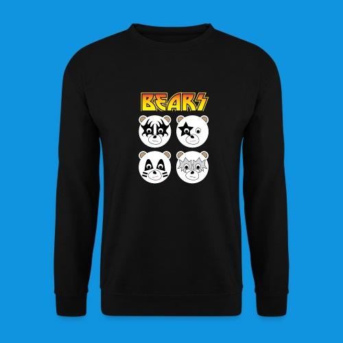 Kiss Bears square.png - Men's Sweatshirt