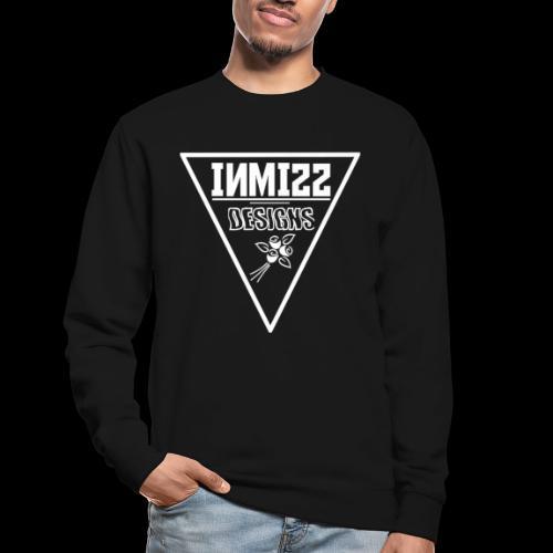 Triangle White Rose Design - Unisex Sweatshirt