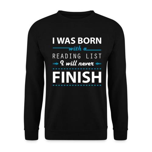 0192 Leseliste   Buchliste   Bücher   Buchwurm - Men's Sweatshirt