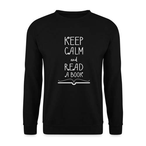 0277 Stay calm and read a book | Read - Men's Sweatshirt