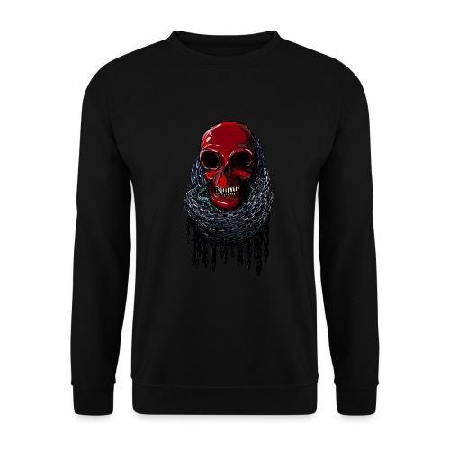 RED Skull in Chains - Unisex Sweatshirt