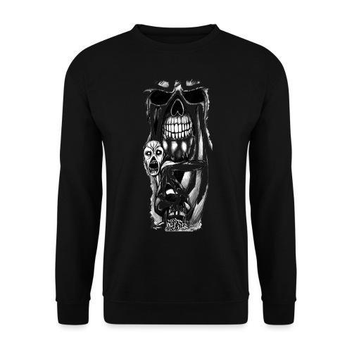grey ink evil zombie tattoo designs - Bluza unisex