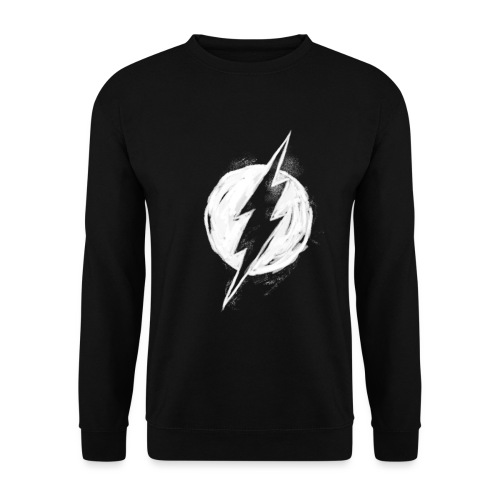 Justice League Flash Logo white - Unisex Pullover