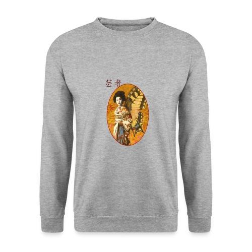 Vintage Japanese Geisha Oriental Design - Men's Sweatshirt
