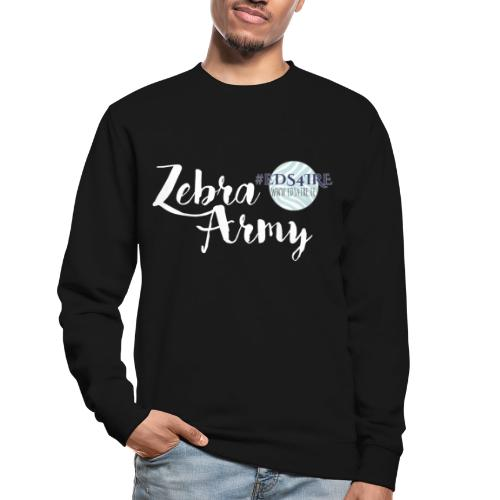 Zebra Army (white) - Unisex Sweatshirt