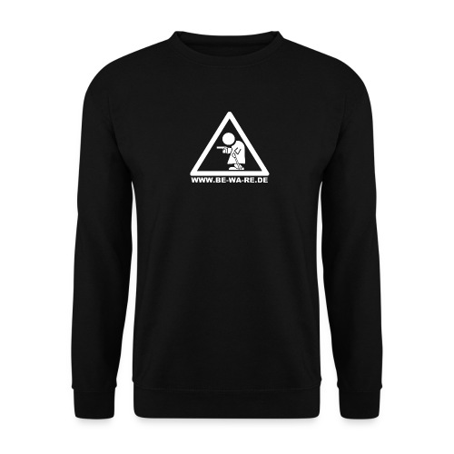 Rentner-Dreieck mit URL in weiß - Männer Pullover