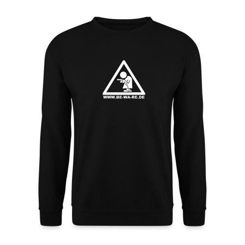 Rentner-Dreieck mit URL in weiß - Unisex Pullover