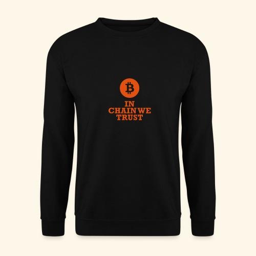 Bitcoin: In chain we trust - Männer Pullover